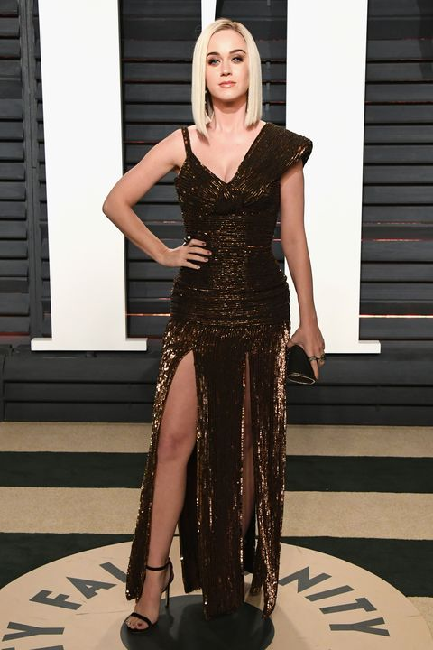 Katy Perry Jean Paul Gaultier Dress At The Oscars Party