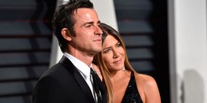 Justin Theroux and Jennifer Aniston at the Oscars after party