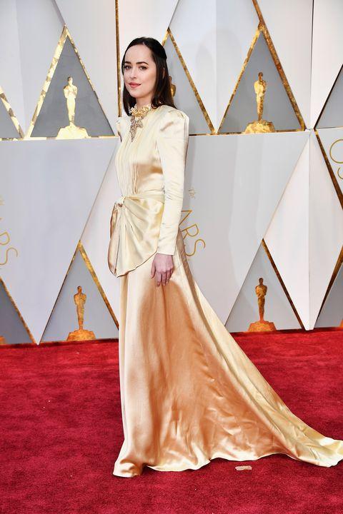 Oscars gold dresses