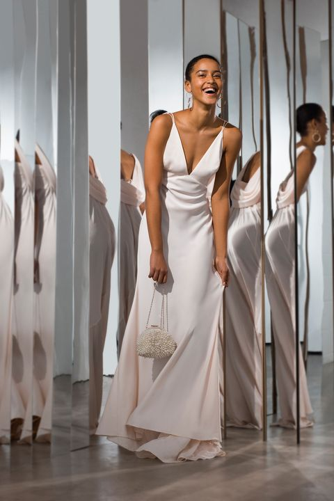 04ced4e206 A blush-coloured slip dress is ideal for a relaxed beach wedding or for  those looking for a minimalist look.
