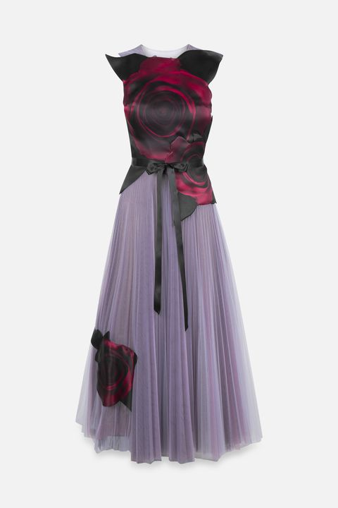Clothing, Dress, Pink, Purple, Cocktail dress, Day dress, Violet, Magenta, Gown, Formal wear,