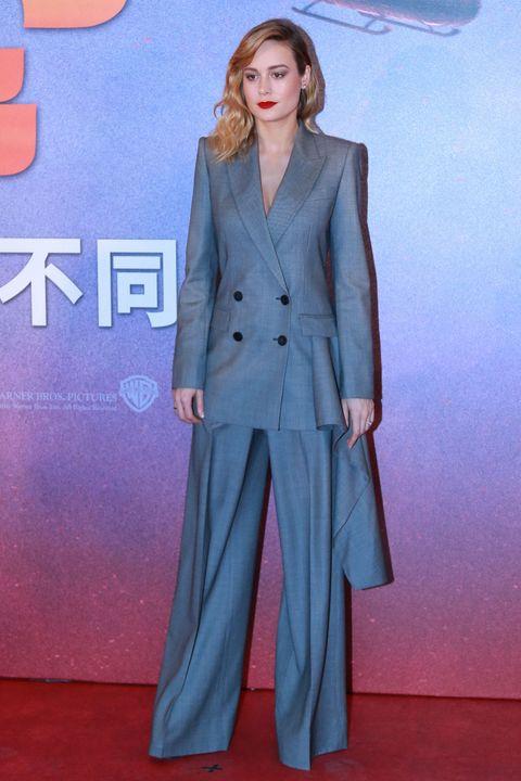 Brie Larson wearing Alexander McQueen