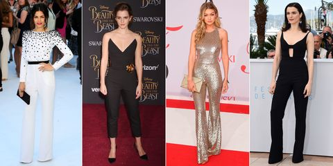 Jenna Dewan Tatum, Emma Watson, Gigi Hadid and Rachel Weisz wearing jumpsuits