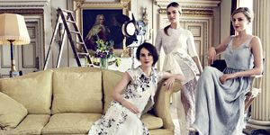 Downton Abbey cast in Harper's Bazaar