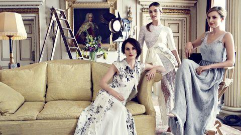 Downton Abbey cast in Harper's Bazaar