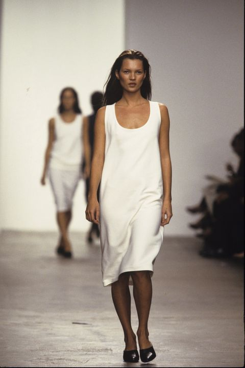 Clothing, Human body, Shoulder, Human leg, Joint, White, Standing, Fashion show, Dress, Style,