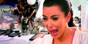 Kim Kardashian Crying - Meme makeup