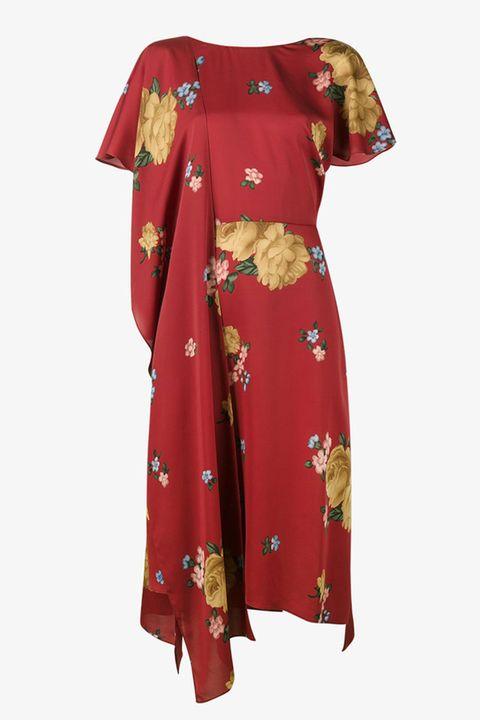 Sleeve, Textile, Collar, Red, Maroon, Pattern, Fashion, Carmine, Fashion design, One-piece garment,