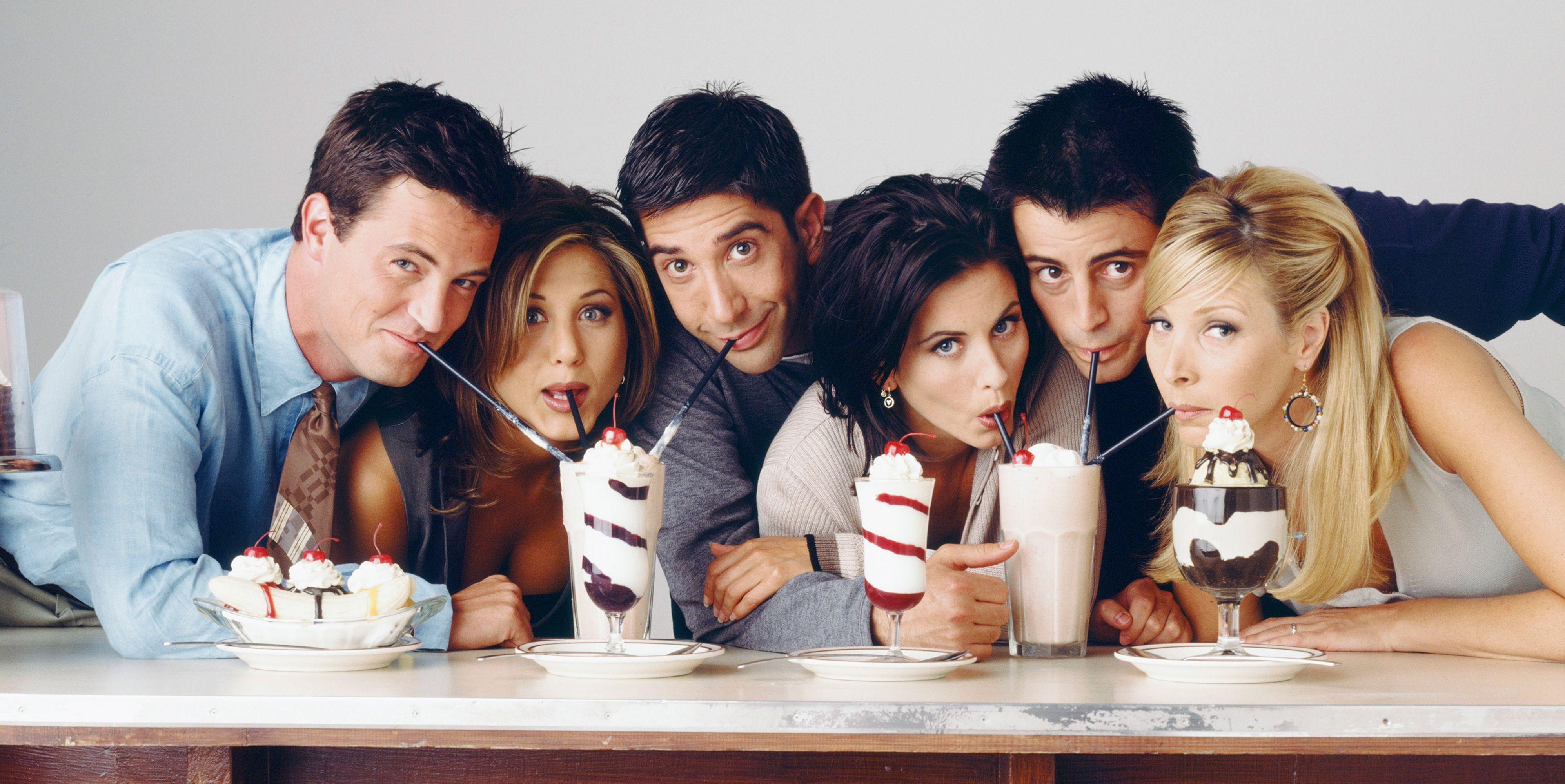 'Friends' cast drinking milkshakes