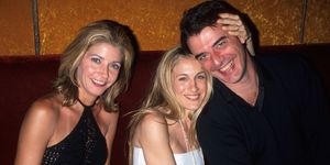 Candace Bushnell, Sarah Jessica Parker, Chris Noth in 1999