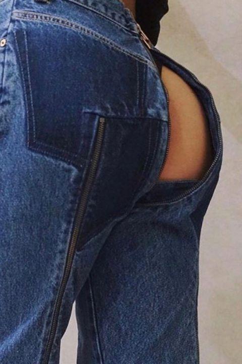 Clothing, Blue, Denim, Shoulder, Textile, Joint, Jeans, Pocket, Electric blue, Fashion,
