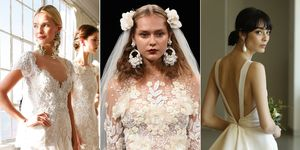Bridal statement earrings from the catwalk