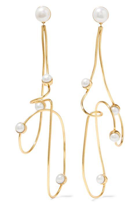 Earrings, Natural material, Metal, Body jewelry, Circle, Silver,