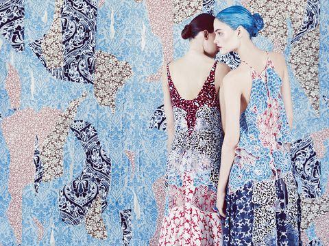 models wearing stella mccartney in harper's bazaar