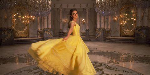 Gown, Dress, Clothing, Yellow, Fashion model, Fashion, Haute couture, Beauty, Quinceañera, Wedding dress,