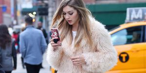 Gigi Hadid on her phone