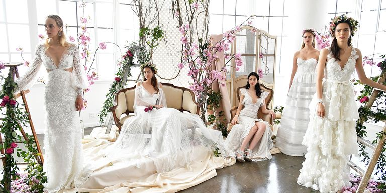 Best wedding dresses from bridal fashion week spring 2018 wedding marchesa bridal spring 2018 junglespirit Images
