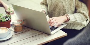 Woman on laptop - online shopping