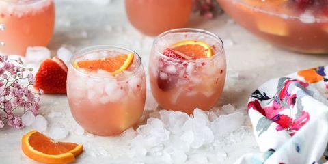 Glass, Drink, Peach, Orange, Alcoholic beverage, Barware, Ingredient, Citrus, Produce, Juice,