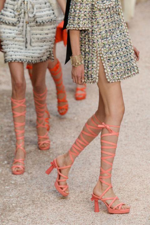 4cdbe0ce703 Gladiator sandals trend - Chanel catwalk sandals