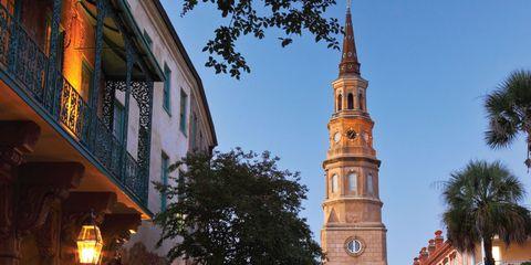 Sky, Landmark, Building, Tree, Town, Architecture, Steeple, Tower, Spire, Church,