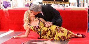Goldie Hawn and Kurt Russell getting a star on the Walk of Fame