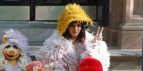 Kendall Jenner with The Muppets