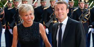 Emmanuel Macron and Brigitte Trogneaux