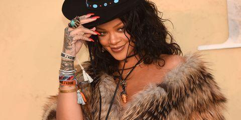 Rihanna front row at Dior