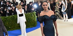 Katie Holmes at the 2017 Met Gala, says she's saving some of her gowns for daughter Suri