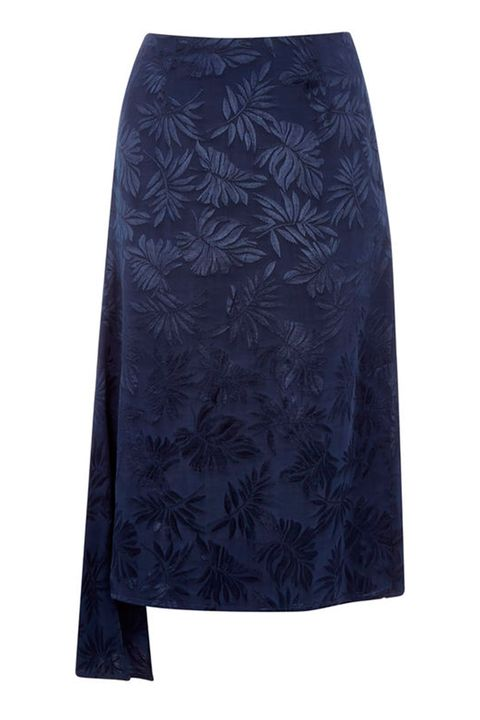 Warehouse navy skirt