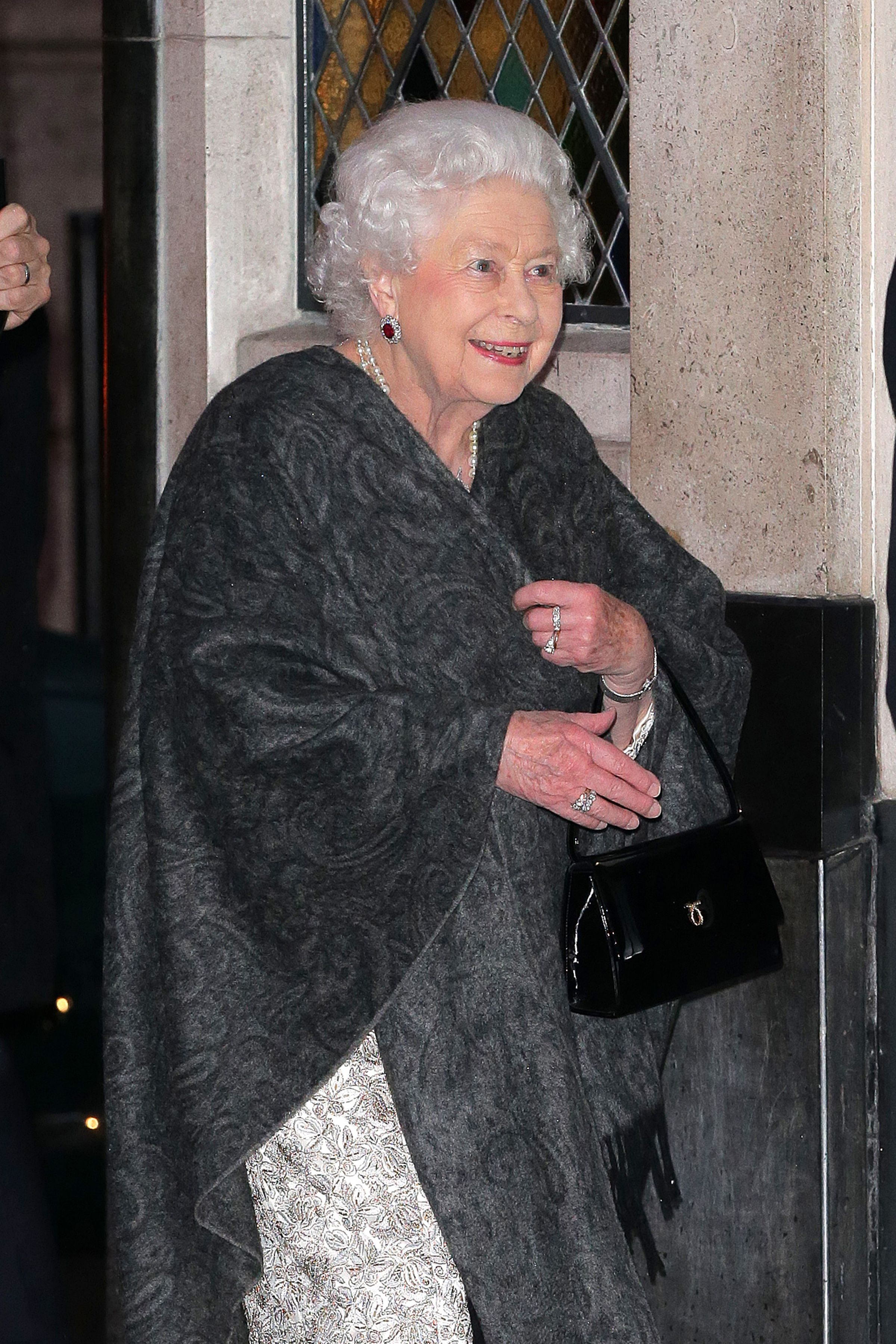 The Queen enjoys a rare night out at The Ivy in central London