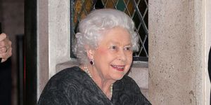 The Queen arrives for dunner at The Ivy, the first time she has dined out since March 2016