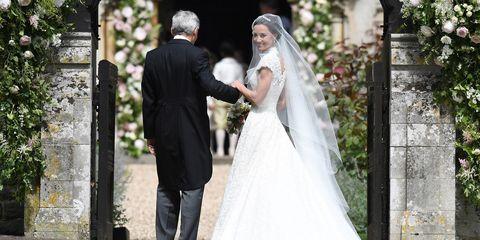 Pippa Middleton in her wedding dress