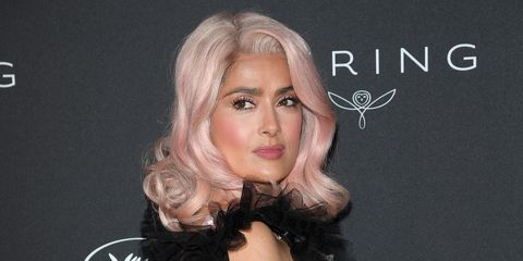 salma hayek wears a pink wig in cannes celebrities with pink hair