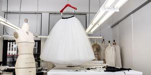 Nicole Kidman's dress being made in the Calvin Klein showroom
