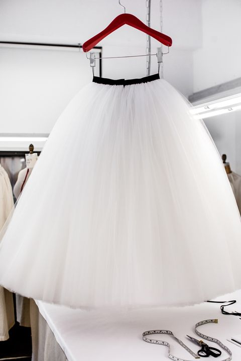 Nicole Kidman's Calvin Klein dress being made