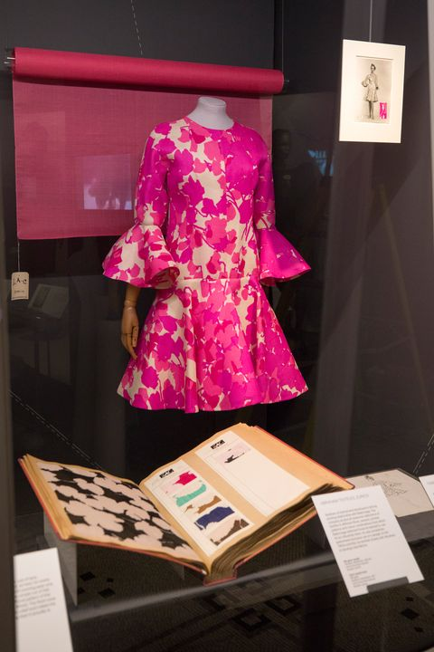 Pink, Clothing, Fashion, Design, Magenta, Fashion design, Textile, Kimono, Dress, Costume,
