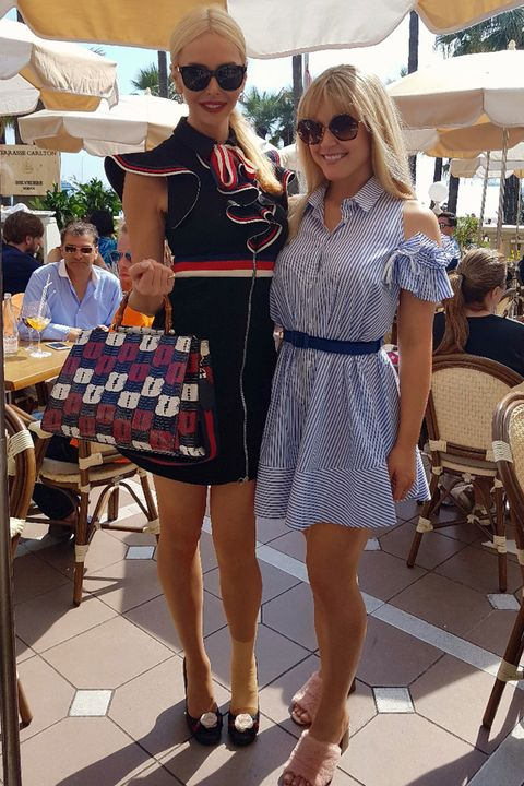 5b5bee65a8 Lunch on the Carlton's terrace with friend Amanda Cronin