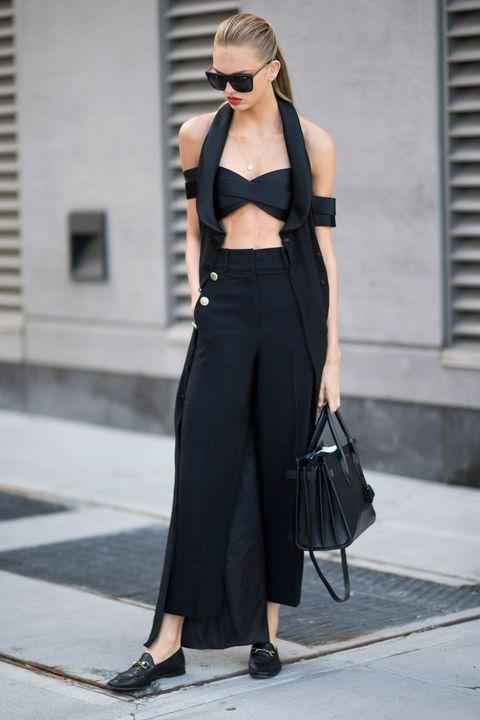 Celebrities wearing black
