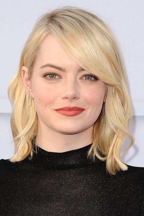 Emma Stone, blonde, blonde hair, hair transformation,