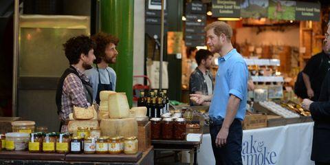 Prince Harry at Borough Market