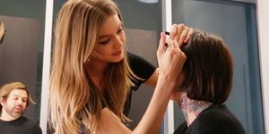 Gigi Hadid turns make-up artist