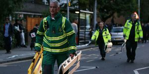 Emergency services at the Grenfell Tower fire