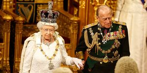 Queen Elizabeth and the Duke of Edinburgh at the 2016 Queen's Speech