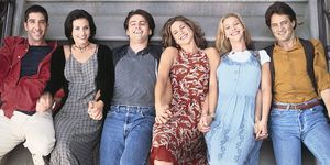 The Friends cast in the nineties