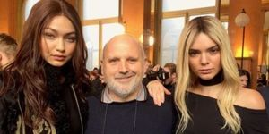 Sam McKnight with Gigi Hadid and Kendall Jenner at Balmain