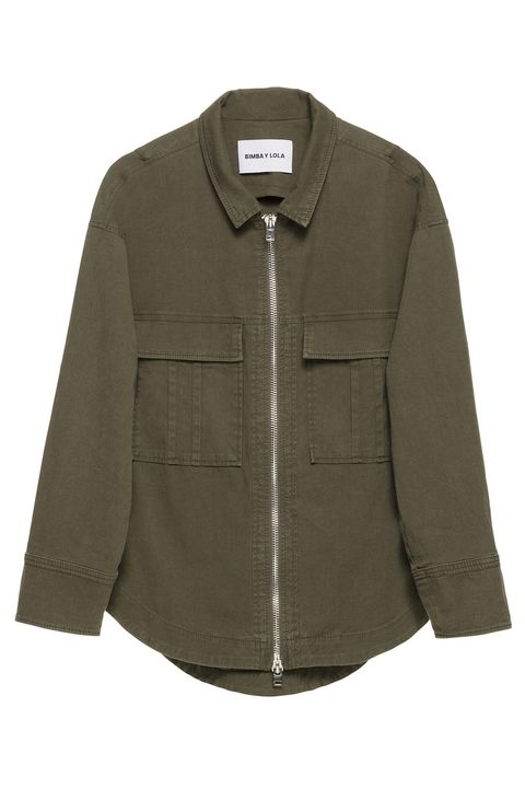 Clothing, Product, Collar, Sleeve, Textile, Outerwear, White, Coat, Khaki, Pattern,
