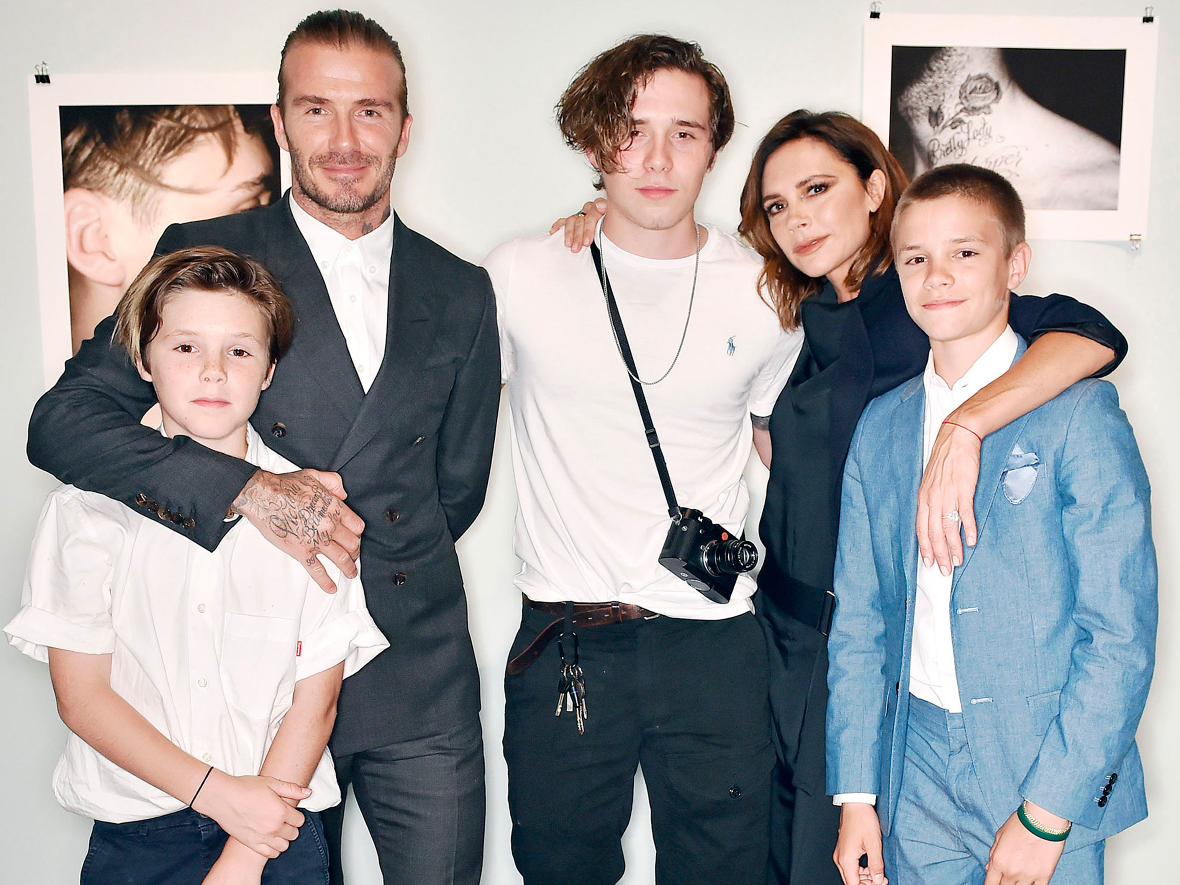 A Modern Family the beckham family visits the 'modern family' set