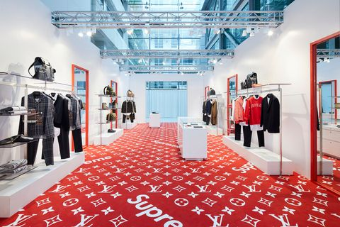 Louis Vuitton opens Supreme pop up shop in London  27cfe1776